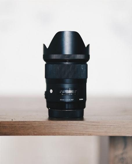 Lente Sigma 35mm F/1.4 Art P/ Canon Completa