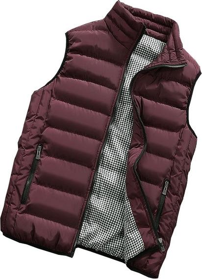 Chaleco Casual Para Hombre Impermeable Slim Plus Jacket Moda