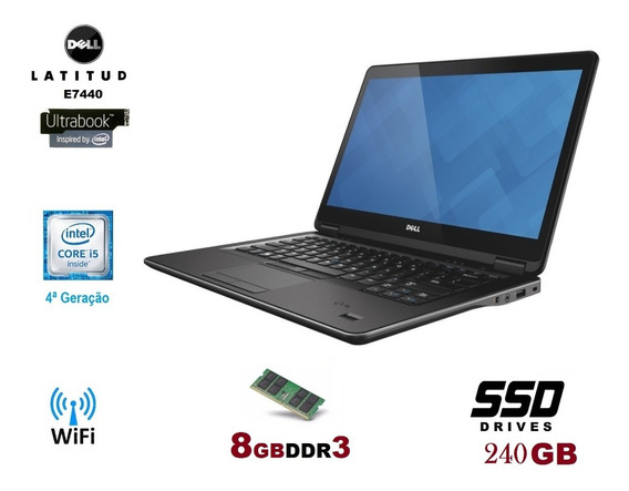 Notebook Dell I5 4ª Geração 8gb Ssd240gb Promoção E Garantia