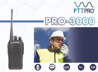 Radio Portátil 5 Watts, Uhf, Marca Ptt Pro 3000, Audio 1 Wat