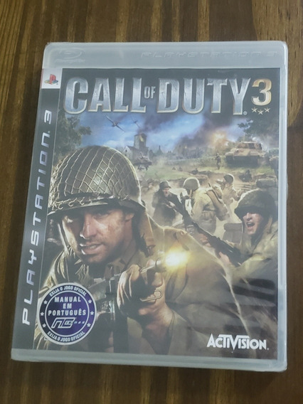 Call Of Duty 3 Ps3 Playstation 3 Lacrado Novo Raro