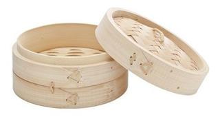 Maestro De Cocina-set X2 Vaporeras Desmontables Bambu 1 Piso