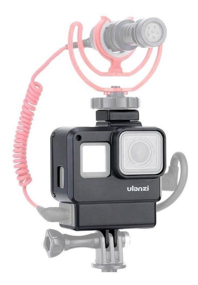 Case P/ Gopro Hero 5,6,7 C/ Suporte P/ Adaptador D Microfone