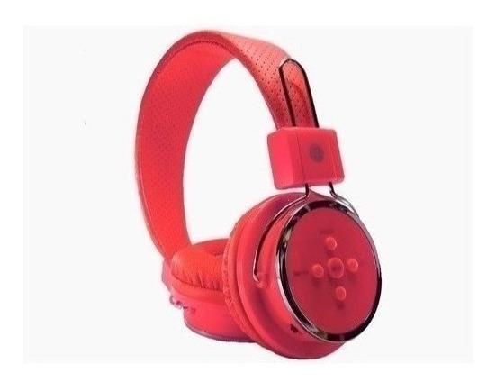 Fone Ouvido Vermelho Sem Fio Bluetooth 4.1 Celular P2 Mp3