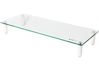 Vivo Glass Ergonomic Tabletop Riser / Desktop Stand Para Mon