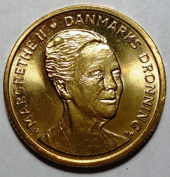 Dinamarca Moneda Aniv. Nac. Queen Margretheii 20 Kroner 2015