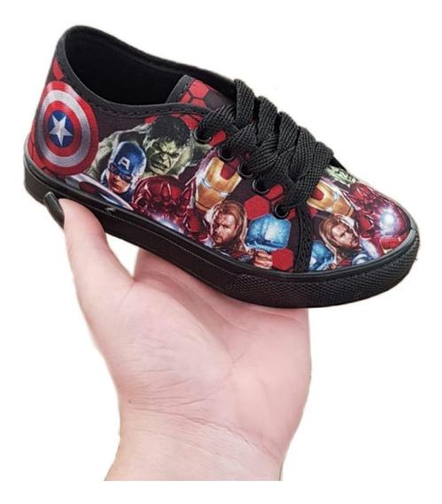 Tenis Vingadores Infantil Sapatos Disney Promoção