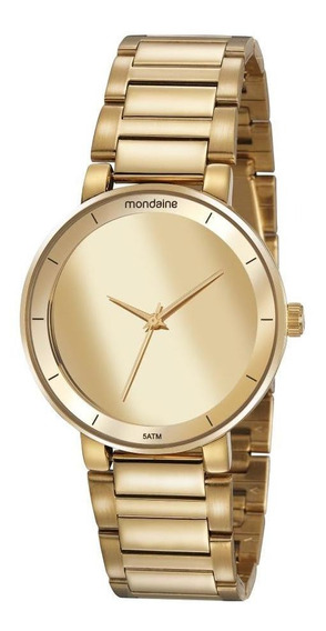 Relógio Feminino Mondaine 32118lpmvde1 40mm Aço Dourado