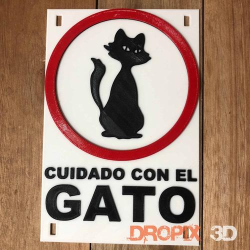 Cartel De Atenciòn Al Intruso Original-dropix3d