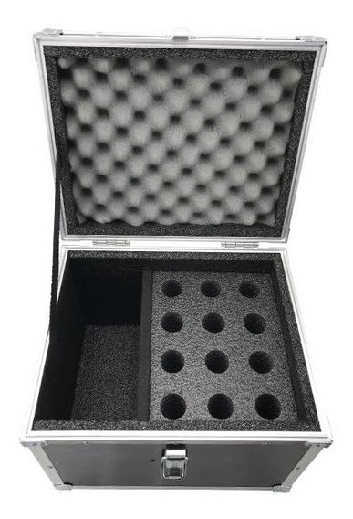Hard Case Maleta 12 Microfones Com Vao Para Acessorios - Rs