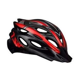 Capacete Ciclismo Tsw Mtb Tune Preto Vermelho C Viseira Tamm