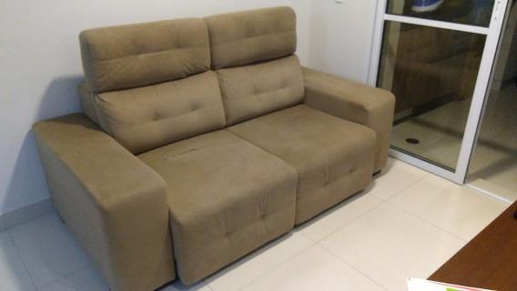 Sofá 2 Lugares Retrátil (chaise) Em Tecido