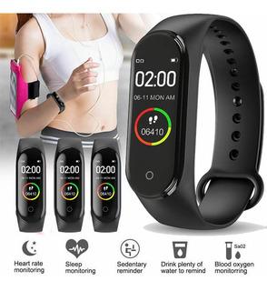 Pulsera Inteligente M4 Con Bluetooth Ritmo Cardíaco Monitor