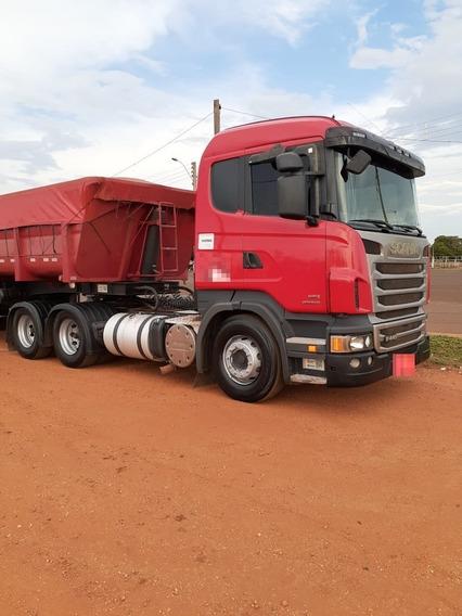 Conjunto Scania 440, Automático, Rodo-caçamba, 600 Mil Km