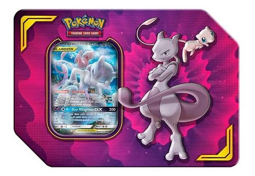 Pokémon Tcg Lata Parceria Poderosa - Mewtwo E Mew Gx