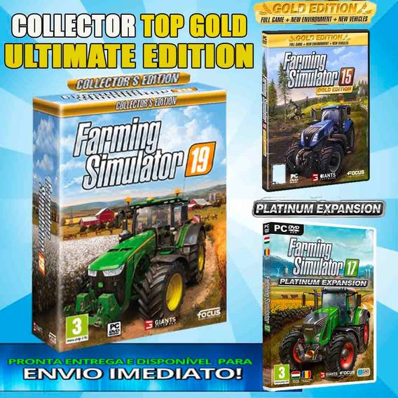 Farming Simulator 15 17 19 Pc Português Gold Collector 2019