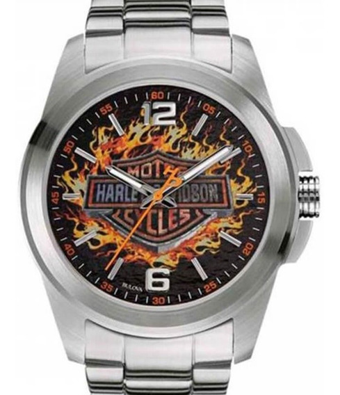 Relógio Bulova Masculino Harley Davidson - Wh30528t + Nfe
