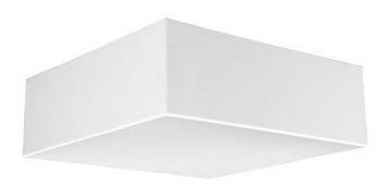 Plafon Quadrado Sobrepor 21 X 21cm E27 Plaslumi - Branco