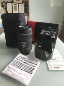 Lente Sigma 150mm Macro. Novinha Para Nikon