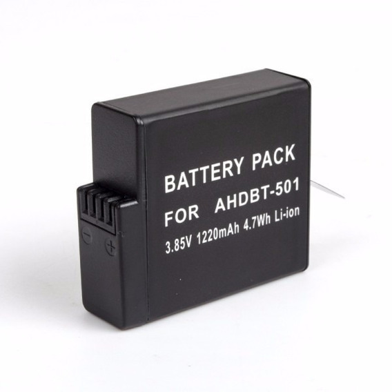 Bateria Recarregável Extra Hero 5 6 Black Hero 5 6