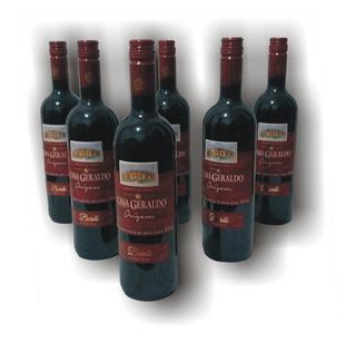 Caixa Com 6 Vinhos Tinto Suave Bordô Origens Casa Geraldo
