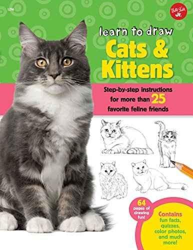 Aprende A Dibujar Los Gatos Y De Los Gatitos: Instrucciones