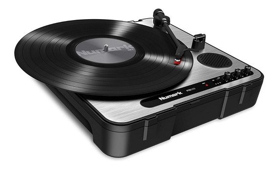 Toca Discos Lp Vinil Numark Pt01usb Portatil Turntable