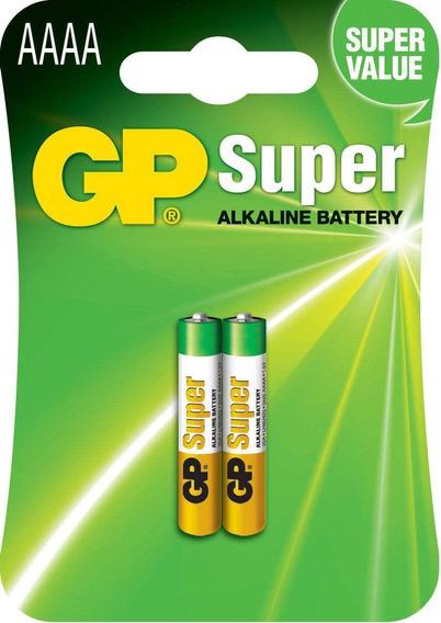 Pilha Aaaa 1,5v Gp Super Alkalina Cartela Com 2 Unidades