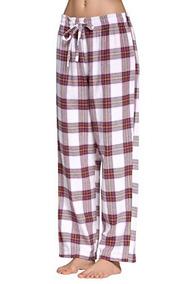 8be6309db9 Cyz Mujeres 100% Algodón Súper Suave Franela Plaid Pijama