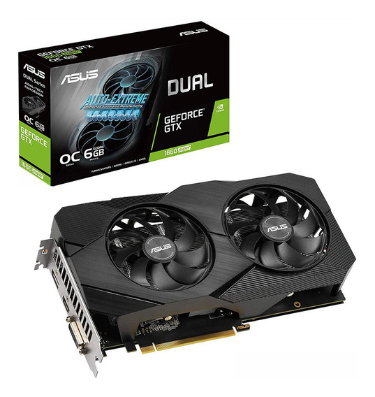 Placa Video Geforce Gtx 1660 6gb Asus Super Evo Oc 1
