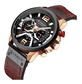 Relógio Masculino Curren 8329 Original Marrom - Rose Gold