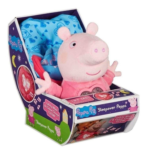 Imagem 1 de 6 de Pelúcia Peppa Pig Com Luz E Som - Hora De Dormir - Sunny