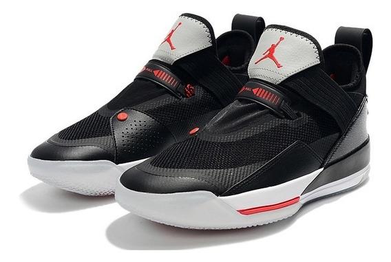 Tenis Basket Nike Air Jordan Xxxiii Se Black Cement 2019