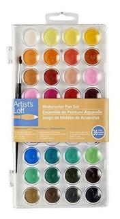 Artistas Loft Fundamentos Acuarela Pan Set, 36 Colores