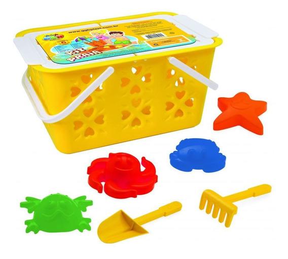 Kit Praia Cesta Ggb Plast Brinquedos