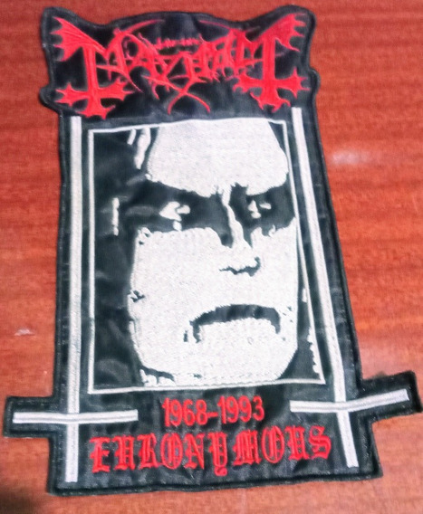 Patch Bordado - Lord Of Chaos - Mayhem - Euronymous