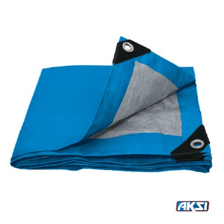 Lona De Polietileno Color Azul 6m X 12m