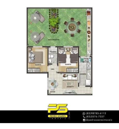 Apartamento Com 2 Dormitórios À Venda, 110 M² Por R$ 165.000,00 - Cuiá - João Pessoa/pb - Ap4002