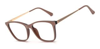 Armação Oculos Ogrife Og 1021-b Feminino Com Lente Sem Grau