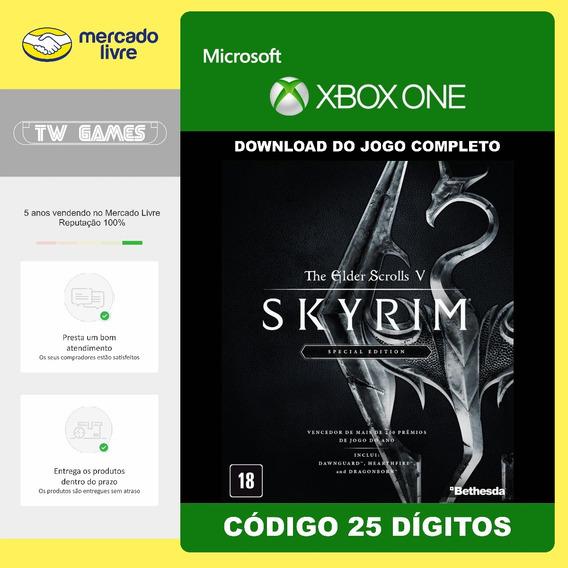 Tes V Skyrim Special Edition Codigo 25 Digitos Xbox One