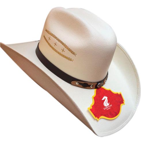 Sombrero La Sierra De Lona Blanco Horma Chihuahua
