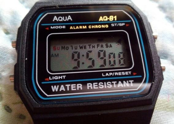Relógio Unisex Retrô Vintage Aqua Á Prova D