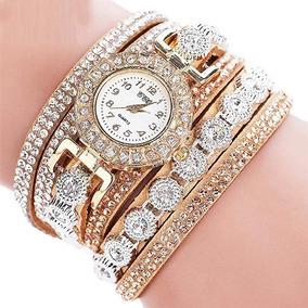 Relógio Feminino Luxo Strass Casual Analógico Frete Grátis