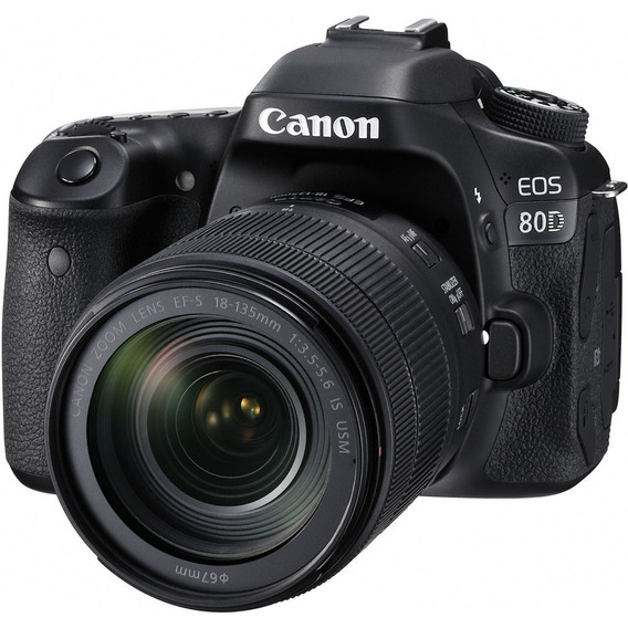 Canon 80d 18-135 Is Usm 24.2 Mpx Lcd 3 Tactil Full Hd Wifi