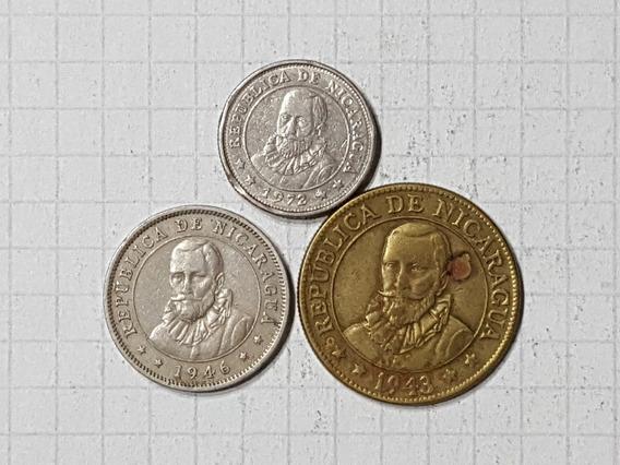 Nicaragua Colección 3 Monedas Antiguas