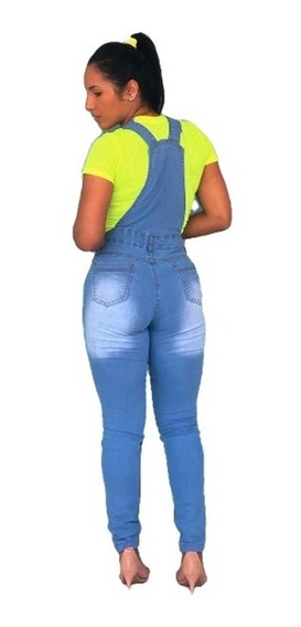 Macacão Jardineira Calça Jeans Feminina Premium