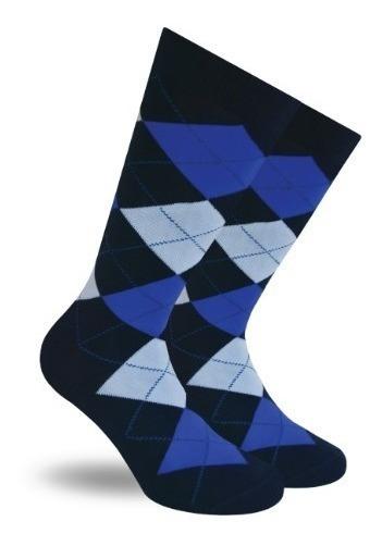 Calcetines Skunk Socks Con Rombos Azules