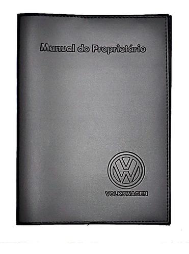 Imagem 1 de 4 de Capa Porta Manual Proprietário Volks Couro Eco
