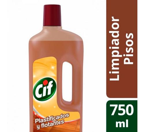 Cif Limpiador Para Pisos Plastificados Y Flotantes X 750 Ml