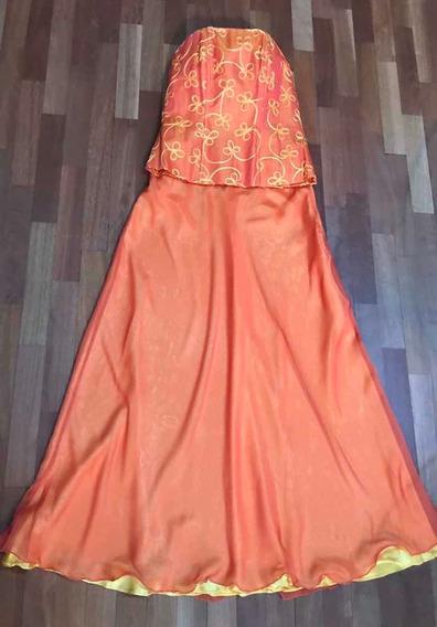 Vestido En Dos Partes/o Conjunto Fiesta-mujer-impecable!!